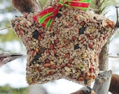 BIG STAR - Bird Seed Feeder with hanger - Organic - Wreath