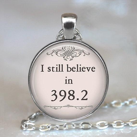 I still believe in 398.2 pendant, fairy tale jewelry book necklace book jewelry fairy tale necklace, librarian gift keychain key fob