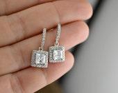 SEASON SALE Crystal Wedding Earrings, Bridesmaid Earrings, Bridal Earrings, Wedding Jewelry, Wedding Accessory, Bridal Jewelry