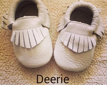 Sale Sand - Beige Colored Baby Moccasins Baby Moccs Moccs Moccasin Shoes Baby Shoes Soft Soled Shoes Crib Shoes Moccasins