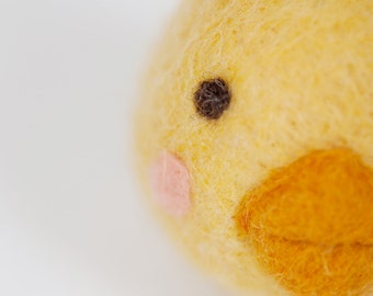 Felted wool chick ball Eco friendly toy