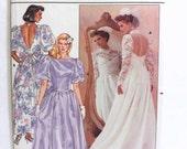 Vintage Butterick 3616, Bridal Gown Pattern, Wedding Dress Pattern, Bridesmaid Dress, Wedding Gown Pattern, Vintage 80's Bridal Fashion