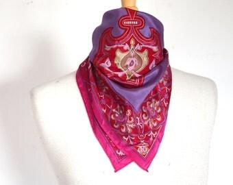Vintage Oscar De La Renta 100% Silk Scarf
