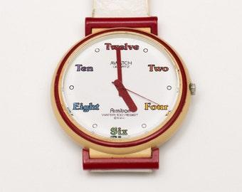Vintage Armitron Awatch Quartz Watch, Hipster Style Jewelry Fashion