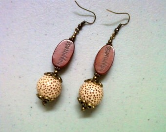 Maroon Happiness Earrings (1331)