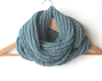 Dusk blue men's scarf - wool scarf - Autumn Winter