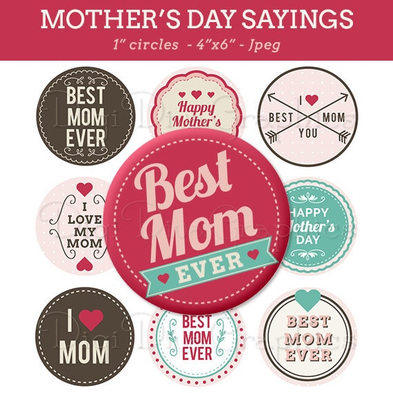 Mother s day bottle cap image sheet best mom ever