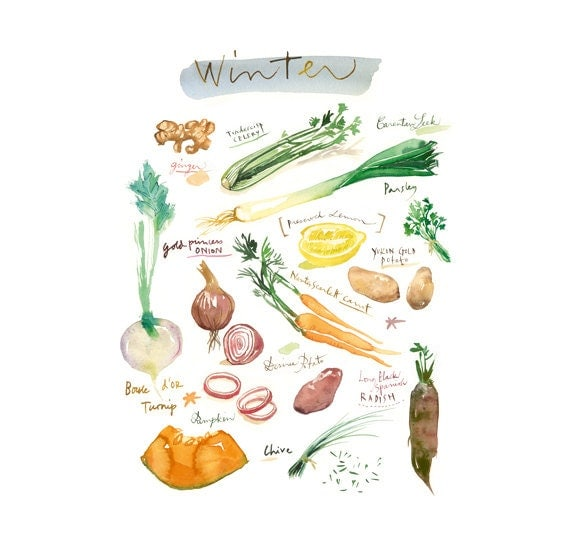 Articles similaires l gumes d 39 hiver affiche cuisine for Affiche pour cuisine