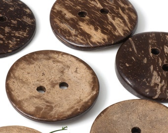 Large coconut buttons - set of 10 buttons - COCO-I002-102