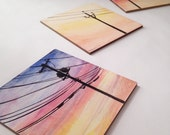 Telephone Wires - Original Watercolor Paintings, Set of 3