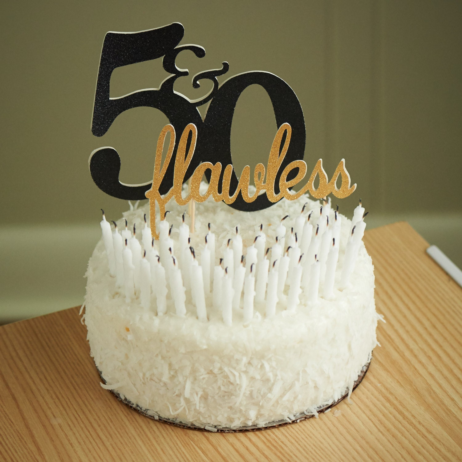 Ideas For Birthday Cake Toppers : 50th Birthday Cake Topper. Handcrafted in 3-5 Business Days.