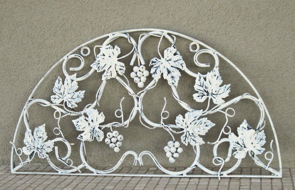 large wrought iron wall hanging wall decor refurbished in. Black Bedroom Furniture Sets. Home Design Ideas