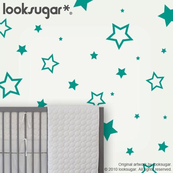 star wall stickers childrens wall decals nursery wall decor kids