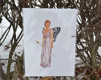 Psyche Watercolor Painting PRINT