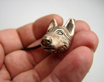 German shepherd dog head pendant