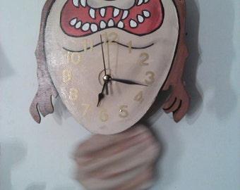 Pinocchio Jimmy Cricket Pendulum Childrens Wall Clock By