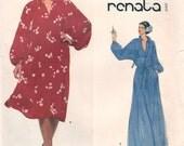 1970s Renata Very Easy Vogue Round Neckline Ruffled Collar Slit Neck Raglan Sleeves Vogue 1823 Sz 14 Bust 36 Women's Vintage Sewing Pattern