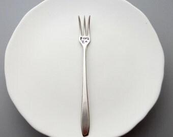 Fork Em. Hand Stamped Cocktail Fork. Appetizer Forks. Sarcastic Gift Idea for Man Cave. Cocktails. Appetizers. Serving Fork for Cheese Tray
