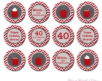 PRINTABLE Hot Chocolate Party Circles #109