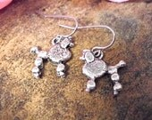 FLASH SALE TODAY Poodle Earrings, Poodle Jewelry Set, Animal Lover Jewelry, Poodle Jewelry, Dog Charm Jewelry, Bargain Priced!