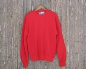 Vintage Deadstock Russell Athletic Red Sweatshirt Mens Medium