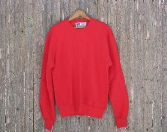 Vintage Deadstock Russell Athletic Red Sweatshirt Mens Medium