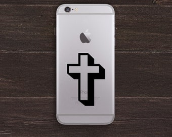 Cross Vinyl iPhone Decal BAS-0125