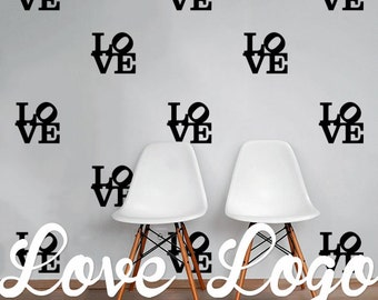 Love Logo Wall Decal Pack, Vinyl Wall Sticker Decal Art Pattern WAL-2220