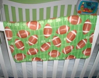 Football Fleece Baby Blanket