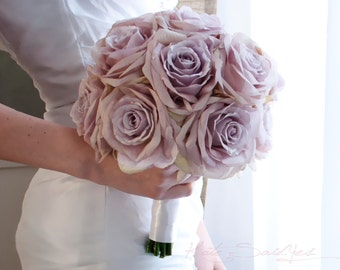 Lavender Rose Wedding Bouquet - Ready To Ship