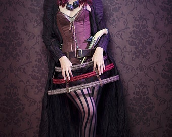 Cage skirt steampuk crinoline lolita pirate