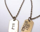 TWO Necklaces // Custom Love & Friendship Necklace //Matching Initials for Best Friends, Boyfriend/Girlfriend // Engagement, Wedding //