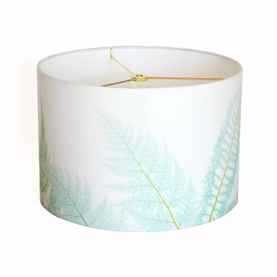small linen sea glass fern 7 8 9 inch small drum lamp shade. Black Bedroom Furniture Sets. Home Design Ideas