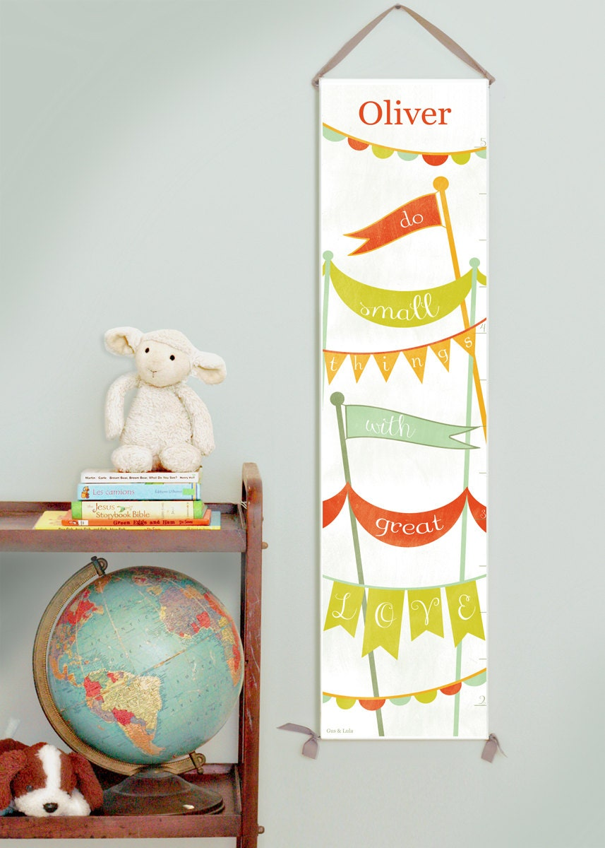 Custom/ Personalized Bunting and Banners canvas growth chart in primaries