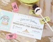 Circus Invitation, Carnival Invitation, Pink- Printable, DIY