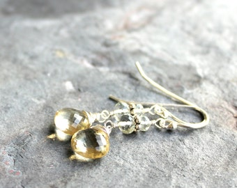 Chardonnay Earrings Scapolite Prasiolite Sterling Silver Vanilla Gemstone Earrings