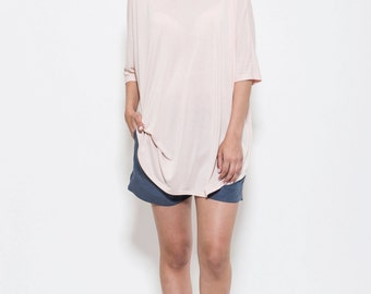 Oversized pale pink blouse