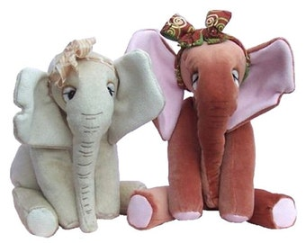 Abigail soft toy elephant digital sewing pattern