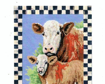 David Merry ADELAIDE and BABY BELLE Cows Counted Cross Stitch Chart Pattern