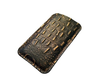iPhone 6 Leather Sleeve, iPhone 6 Plus Gator Embossed Leather Case