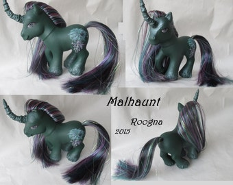 Malhaunt Custom My Little Pony spooky halloween unicorn