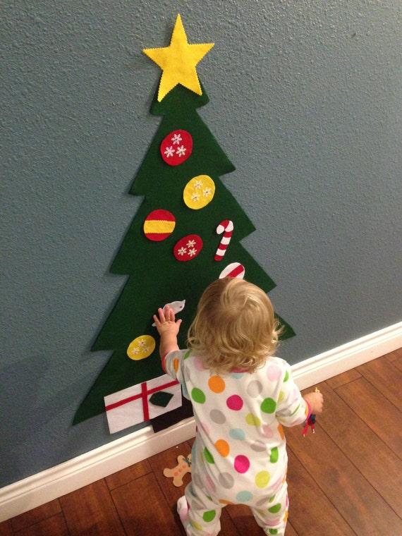 felt christmas tree holiday gift for toddlers kids felt. Black Bedroom Furniture Sets. Home Design Ideas
