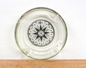 Mariners Compass Vintage Glass Ashtray