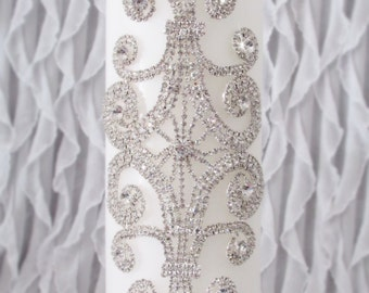 Rhinestone Unity Candle | Memorial Candle | wedding unity candle | White or Ivory | Silver or Gold