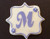 Wedding Cookie Favors, Personalized Decorated Cookies, Monogram Cookie Favors