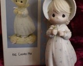 "1990 Precious Moments Limited Edition Figurine ""He Loves Me"""