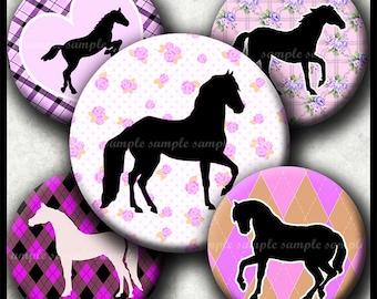 INSTANT DOWNLOAD Purple I Love Horses (431) 4x6 Bottle Cap Images Digital Collage Sheet for bottlecaps hair bows .. bottlecap images
