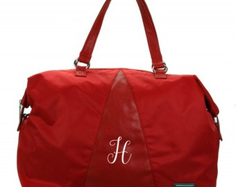 Valeria's Duffle Tote in Red