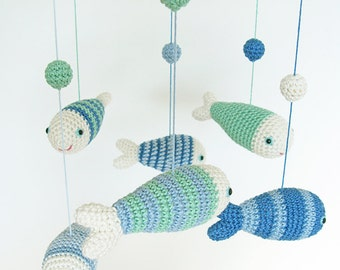 Fish Nursery Decor, Baby Mobile, Nursery Decor Boy, Baby Boy Mobile, Nursery Mobile, Fish Mobile, Baby shower Gift