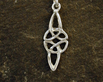 Sterling Silver Celtic Love Knot Pendant on a Sterling Silver Chain